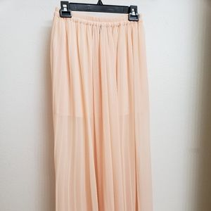 Victoria's Secret Sheer Peach Maxi Skirt